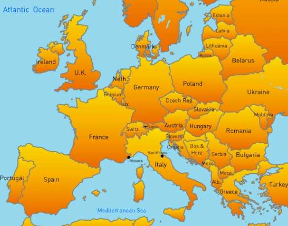 Students and Travel Europe and Beyond – Travel Map Of Europe With Cities