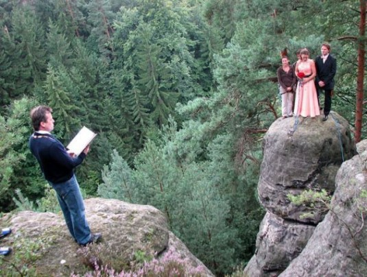 wedding-taking-place-on-rock-face
