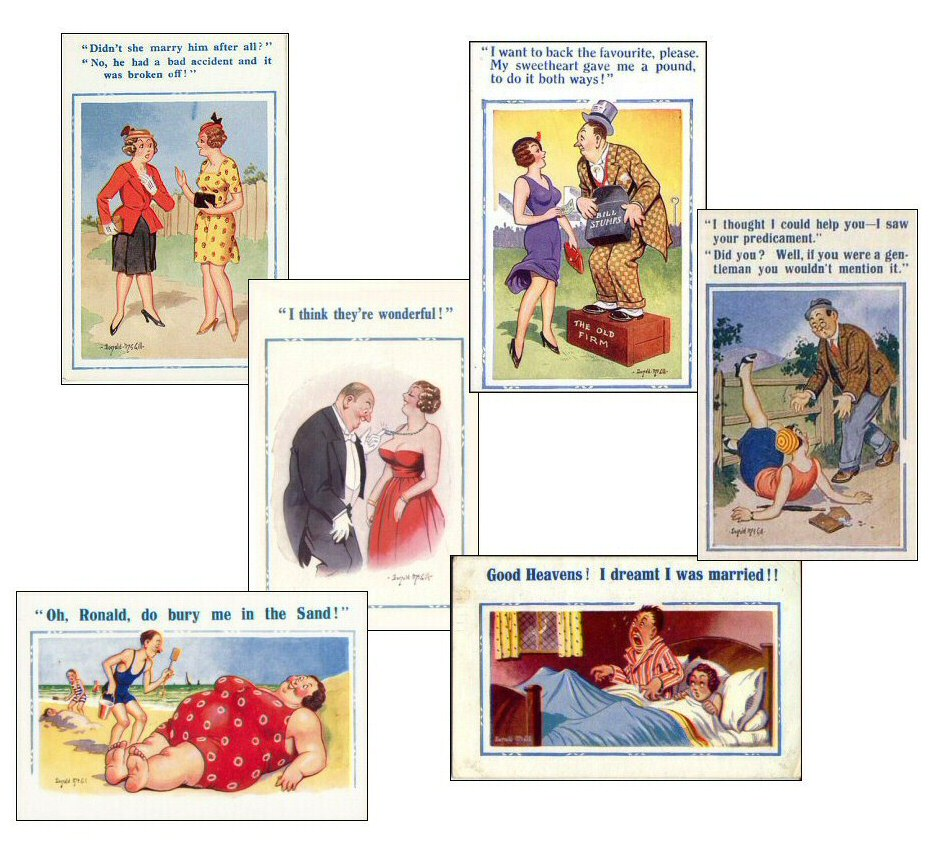 Saucy postcards by Donald McGill